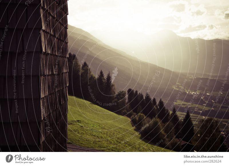 herbstliches tirol Natur Sommer Einsamkeit ruhig Landschaft Erholung Wald Umwelt Ferne Wiese Berge u. Gebirge Wand Herbst Gras Holz Garten