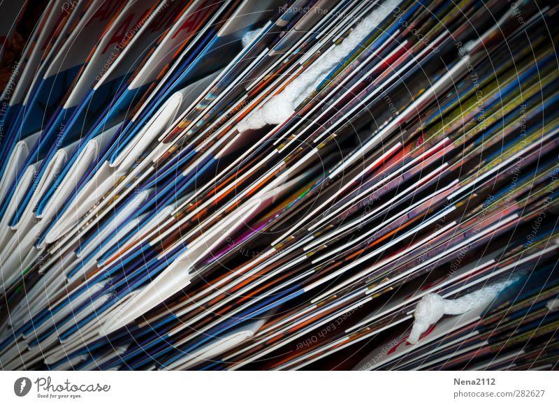 Sammlung Papier Aktenordner Verpackung Sack nah viele mehrfarbig Tüte quer Stapel gefaltet Mengenzählwerk Farbfoto Innenaufnahme Nahaufnahme Detailaufnahme