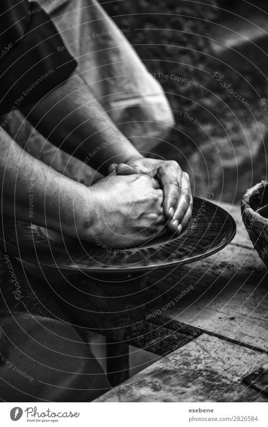 Hände eines Töpfers formen Ton Schalen & Schüsseln Topf Basteln Kind Arbeit & Erwerbstätigkeit Handwerk Mensch Frau Erwachsene Finger Kunst Kultur berühren