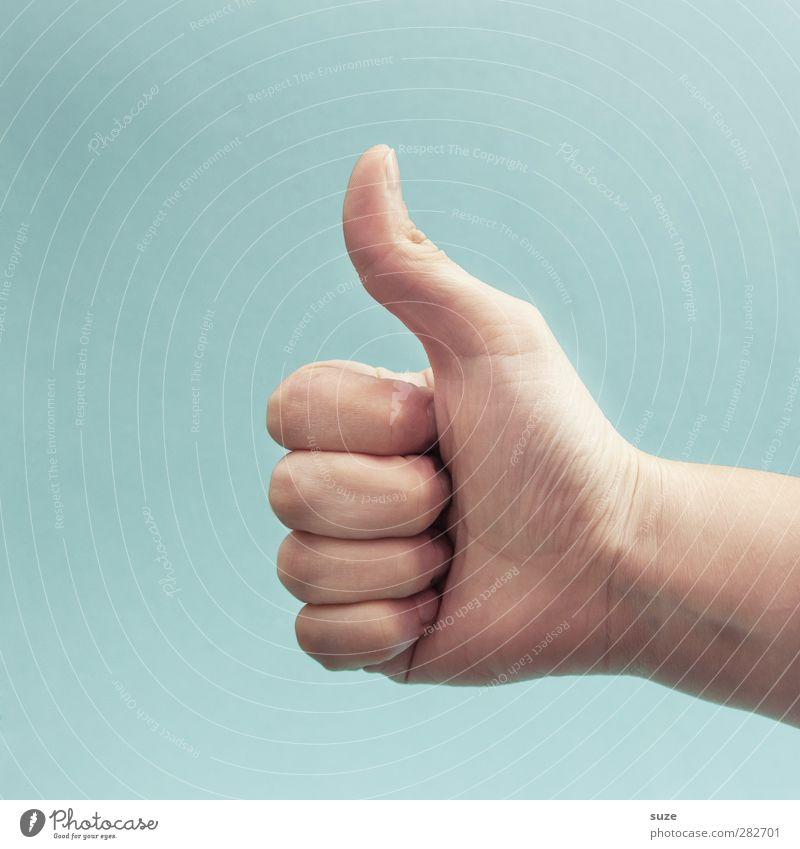 I like. Hand Freude sprechen hell Business Arme Haut Erfolg Finger Kommunizieren Coolness einfach Zeichen Europäer trendy Dienstleistungsgewerbe