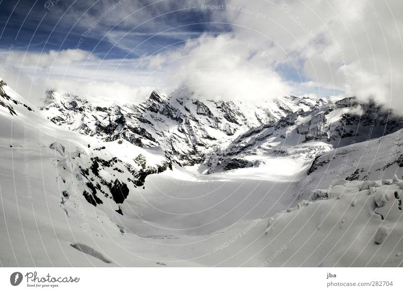 Gletscher Natur blau alt weiß Wolken Landschaft Winter Berge u. Gebirge Leben Schnee Freiheit Stein Felsen Eis wild Tourismus