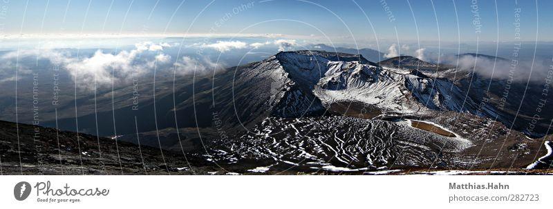Tongariro Landschaft Urelemente Schönes Wetter Berge u. Gebirge Vulkan Tangariro Nationalpark Neuseeland Menschenleer Freiheit Frieden Ferien & Urlaub & Reisen
