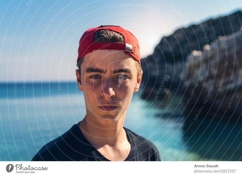 Urlaubsporträt Lifestyle Stil Leben Sinnesorgane ruhig Ferien & Urlaub & Reisen Tourismus Ausflug Abenteuer Ferne Freiheit Sommerurlaub Sonne Strand Insel