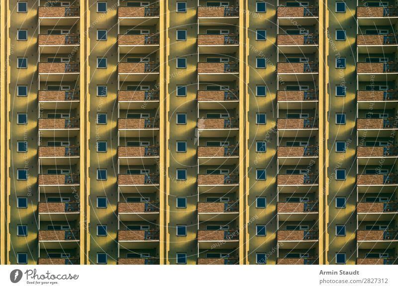Normal Lifestyle Stil Design Häusliches Leben Wohnung Haus Stadt Stadtzentrum Fassade Balkon außergewöhnlich Unendlichkeit Stimmung Sehnsucht Einsamkeit