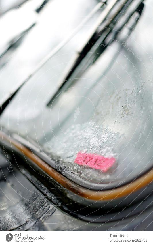 früher war alles besser   Wetter, Autos, Musik und sowieso. schwarz grau Metall Stimmung Eis PKW Glas Coolness Ziffern & Zahlen Oldtimer Windschutzscheibe