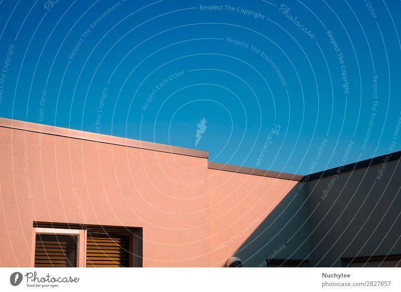 Himmel Sommer blau Farbe schön weiß Architektur Stil Business Gebäude Kunst Fassade Büro Design Wohnung hell