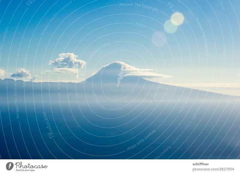 Fernweh | Pico Umwelt Natur Landschaft Himmel Wolken Sonne Sonnenlicht Sommer Klima Schönes Wetter Berge u. Gebirge Gipfel Vulkan Meer Insel außergewöhnlich