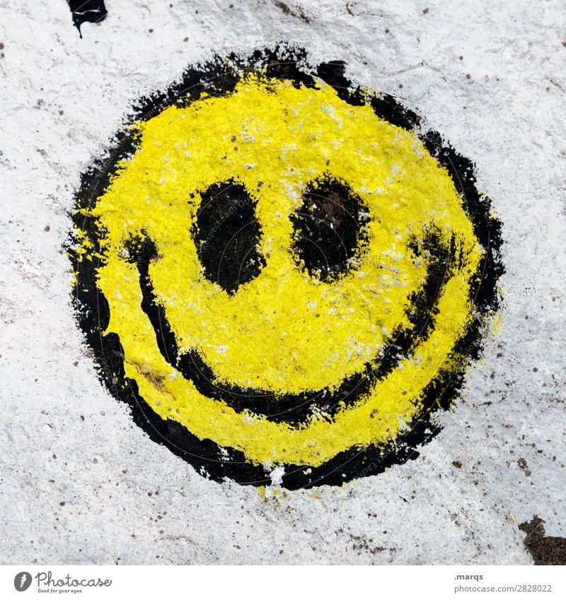 :) Freude Wand Mauer Zufriedenheit modern Kommunizieren Fröhlichkeit Zeichen trendy trashig Vorfreude Euphorie grinsen Frühlingsgefühle Smiley