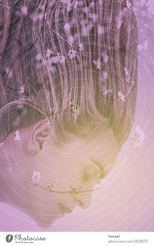 Frau Mensch Pflanze schön Baum Blume Erholung ruhig Gesicht Auge Lifestyle Erwachsene Religion & Glaube Senior feminin Gefühle