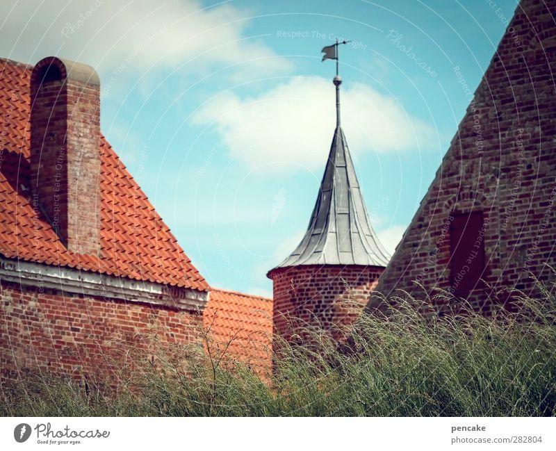 früher war alles besser! | in burgen geborgen Spøttrup Dänemark Europa Stadtrand Burg oder Schloss Turm Mauer Wand Sehenswürdigkeit Denkmal Spøttrup Borg Stein