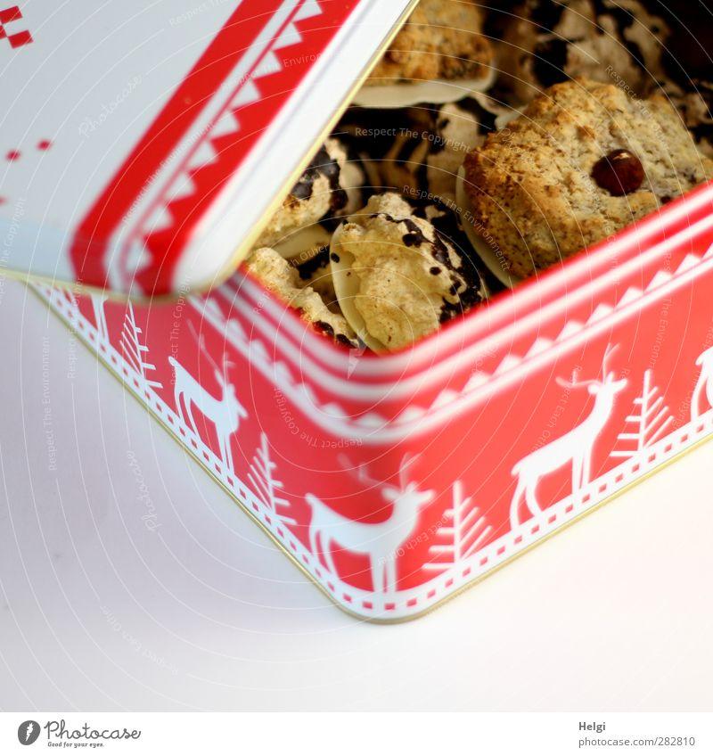Leckeres für Fotoline... weiß schön rot Glück Essen Metall Stimmung braun liegen Lebensmittel frisch ästhetisch Ernährung Dekoration & Verzierung einzigartig Wunsch
