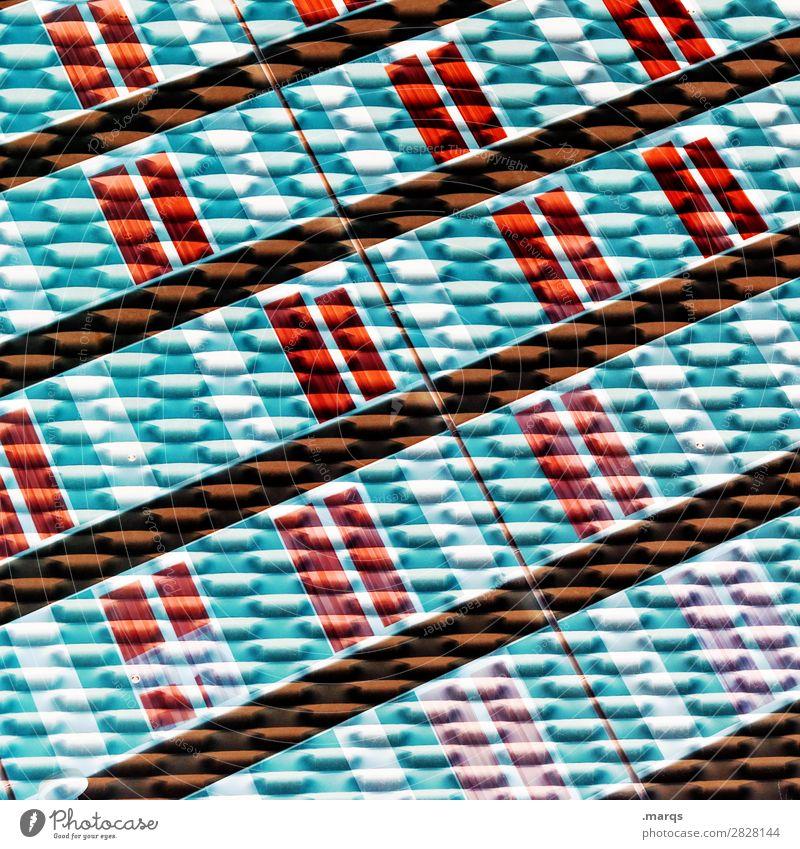 Stream Lifestyle elegant Stil Design Glas Metall Linie Streifen außergewöhnlich trendy modern blau rot schwarz türkis weiß Farbe Kreativität Ordnung Geometrie