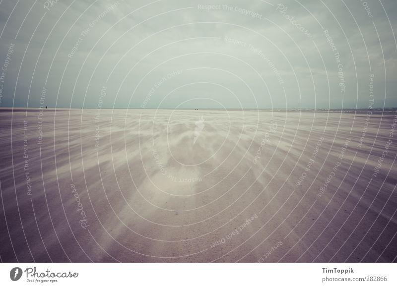 Nowhere #3 Natur Meer Strand Einsamkeit Traurigkeit Sand Wind Insel Sandstrand Langeoog sentimental Sandverwehung Sandsturm
