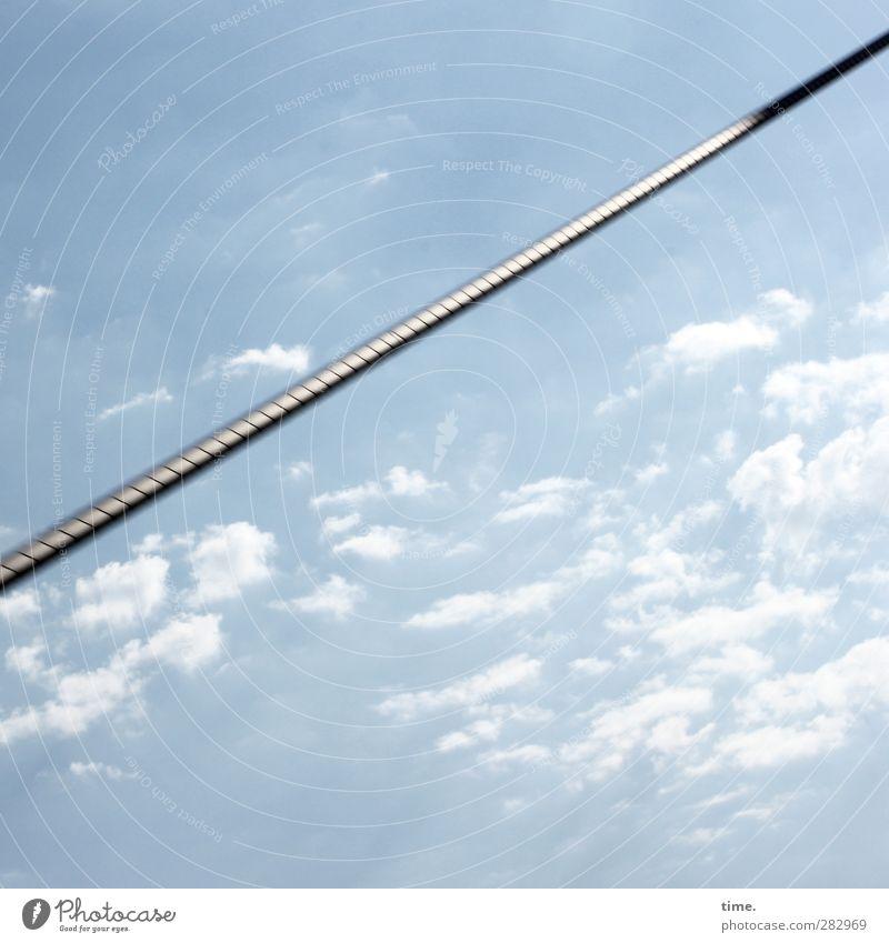Hiddensee | Gute Nerven Himmel Wolken Schönes Wetter Brücke Architektur Drahtseil ästhetisch sportlich gigantisch glänzend hoch anstrengen Entschlossenheit