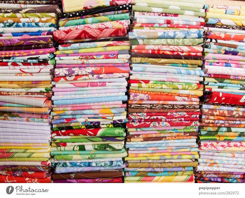 guter stoff kaufen Handel Mode Bekleidung Kleid Stoff Dekoration & Verzierung Ornament Linie Streifen trendy Kitsch mehrfarbig Farbe Textilien stapeln nähen