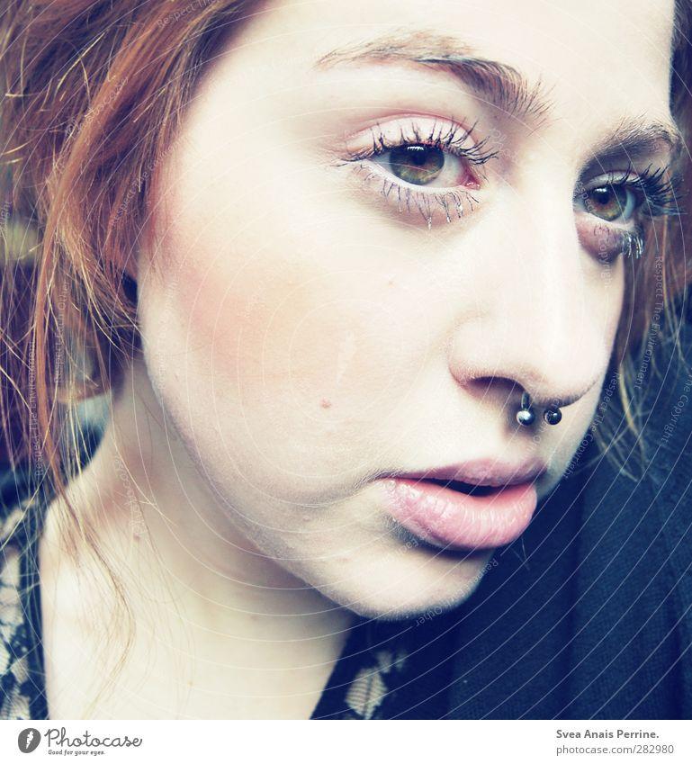 brause. feminin Junge Frau Jugendliche Haare & Frisuren Gesicht Nase Mund Lippen 1 Mensch 18-30 Jahre Erwachsene brünett rothaarig Zopf Wimpern Augenbraue
