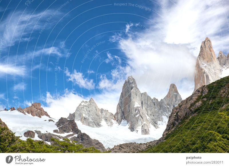 Himmel Natur blau Ferien & Urlaub & Reisen grün Sommer Baum Wolken Wald Berge u. Gebirge Park Abenteuer rein abgelegen Chile Patagonien