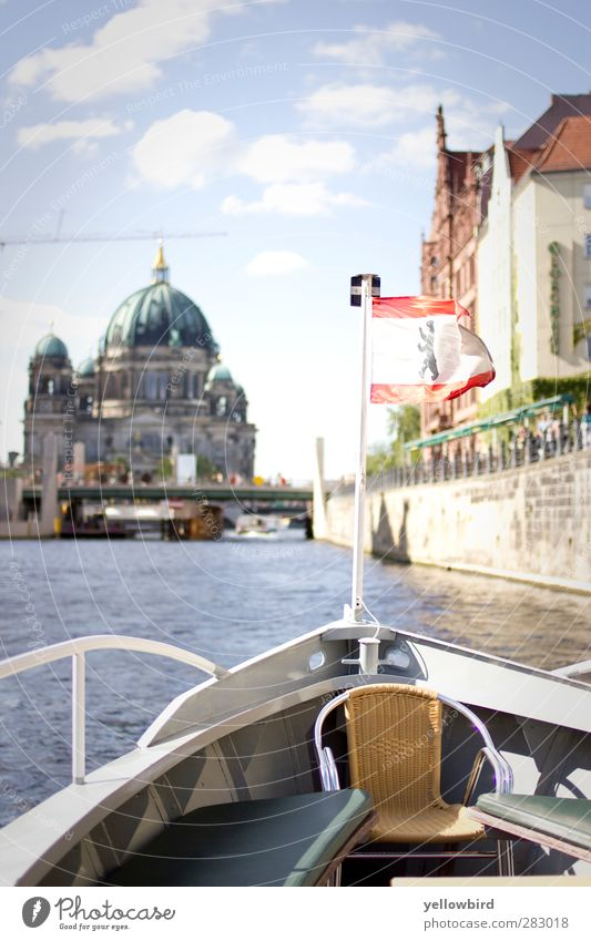 Bootstour Haus Dom Bauwerk Gebäude Architektur Sehenswürdigkeit Wahrzeichen Deutscher Dom Schifffahrt Bootsfahrt Wasserfahrzeug An Bord fahren