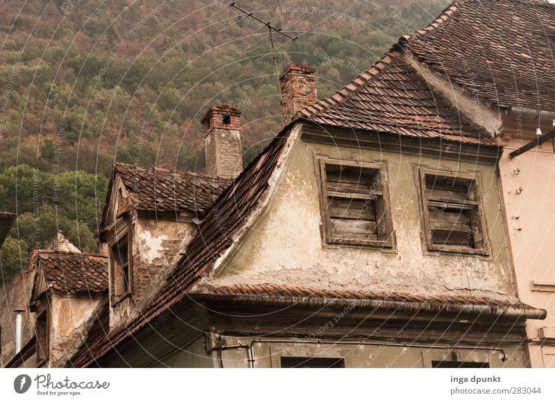 damals... Rumänien Europa Osteuropa Siebenbürgen Stadt Altstadt Menschenleer Haus Bauwerk Gebäude Architektur Fenster Dach Stein Beton alt Gefühle Stimmung