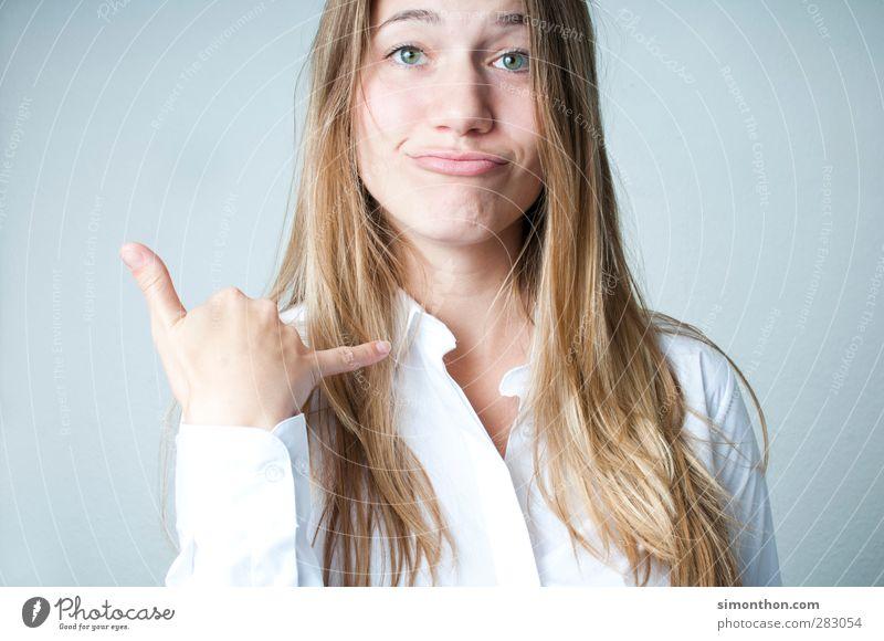 Ruf mich an! Mensch Jugendliche Junge Frau Erwachsene 18-30 Jahre sprechen Arbeit & Erwerbstätigkeit Business Erfolg lernen Telekommunikation