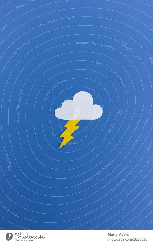 Unwetter Arbeit & Erwerbstätigkeit Wirtschaft Umwelt Klima Klimawandel Wetter Blitze leuchten Konflikt & Streit ästhetisch modern blau Todesangst gefährlich