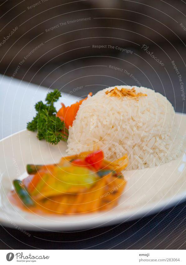 asia Ernährung lecker Teller Abendessen exotisch Mittagessen Vegetarische Ernährung Reis Asiatische Küche Geschäftsessen
