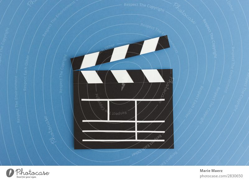 Premiere - Film Klappe Illustration aus Papier Lifestyle Entertainment Veranstaltung Feste & Feiern Kunst Kino Filmindustrie Video Fernsehen schauen Blick neu