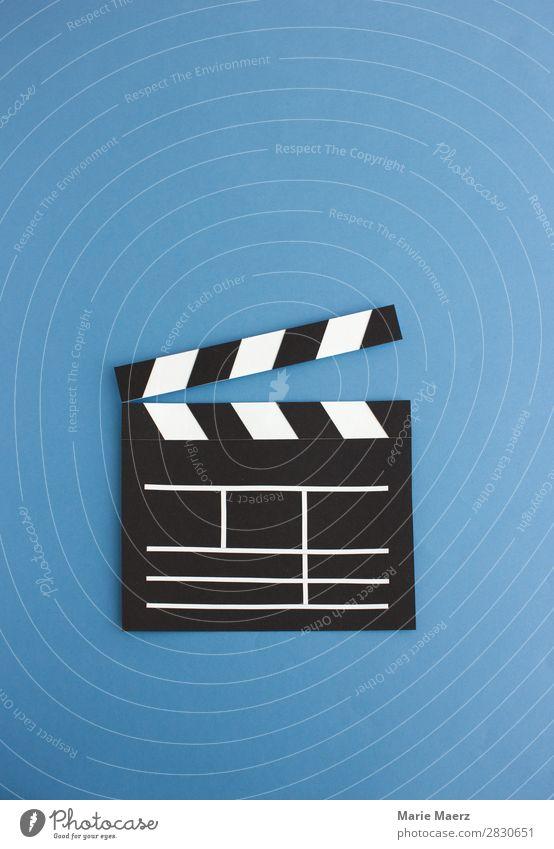 Film ab Lifestyle Freizeit & Hobby Fernsehen Kino Filmindustrie Video Fernsehen schauen Coolness schön blau Lebensfreude Interesse Kreativität