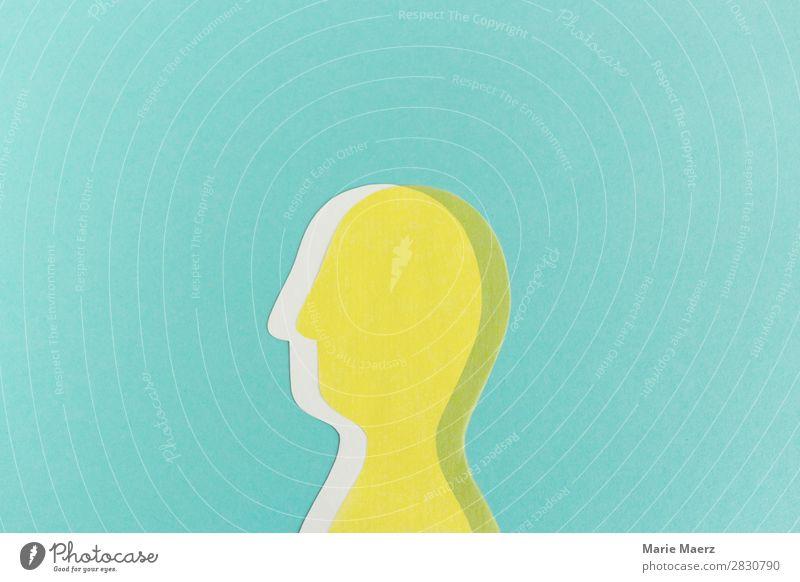 Wer bin ich? Und wenn ja wie viele? Wissenschaften Mensch androgyn Kopf 1 beobachten Denken sprechen lernen gelb türkis Gefühle beweglich Leben vernünftig