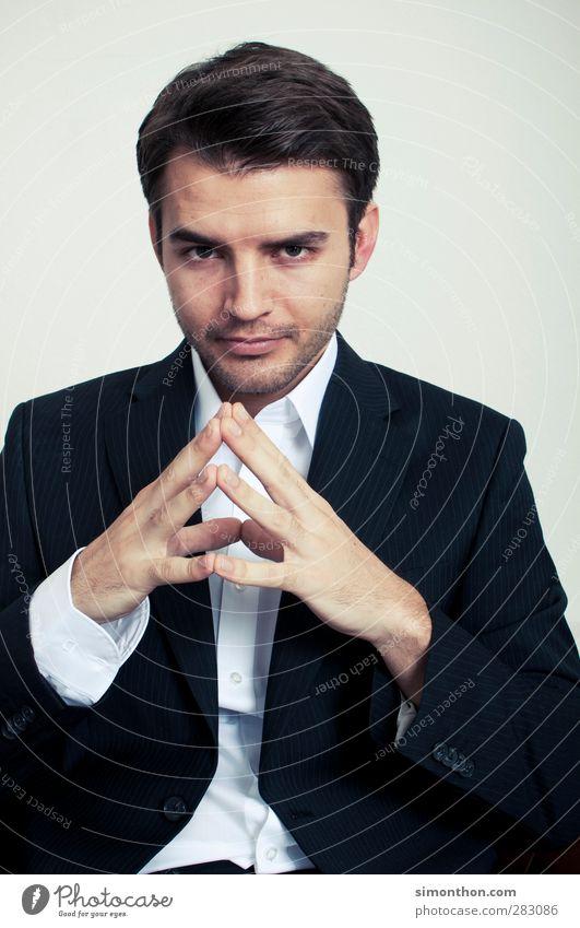 chefgespräch Mensch Jugendliche 18-30 Jahre Erwachsene Arbeit & Erwerbstätigkeit Business maskulin Erfolg lernen Beruf Geldinstitut Gelassenheit Sitzung