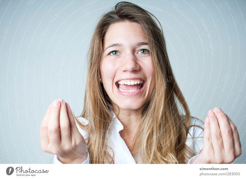 Italienerin Mensch Jugendliche schön Gesicht Erwachsene 18-30 Jahre Leben feminin Gefühle sprechen lachen Business leuchten Lächeln Energie Kommunizieren