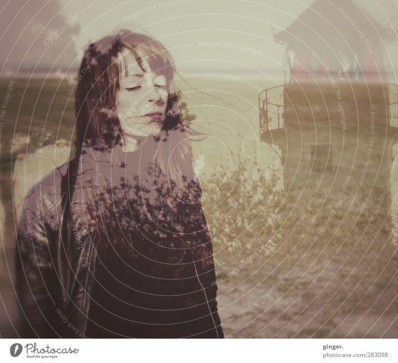 Hiddensee | Feel the Ocean deep inside me. Mensch feminin Junge Frau Jugendliche Erwachsene Leben Kopf Haare & Frisuren Gesicht 1 18-30 Jahre Umwelt Landschaft