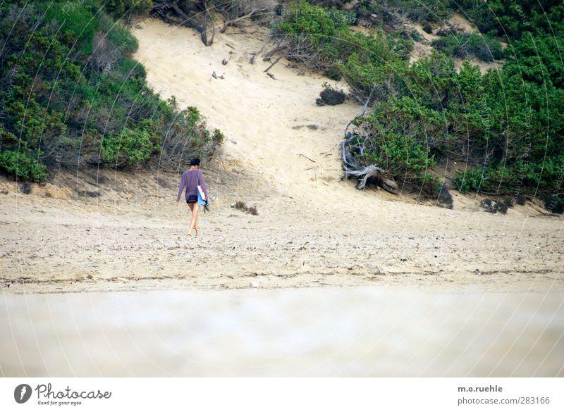 ich habe dich nur gehen sehen Mensch Natur Ferien & Urlaub & Reisen Sommer Strand Landschaft Ferne Umwelt feminin Freiheit Sand Stimmung Körper Ausflug