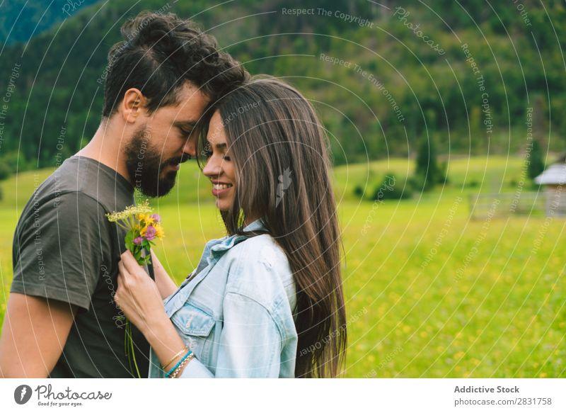 Ein paar Kuscheltiere auf der Wiese Paar Hügel Kuscheln Blume Haufen klein Natur Sommer Mensch Mann Frau Liebe Gras schön Zusammensein Jugendliche Glück