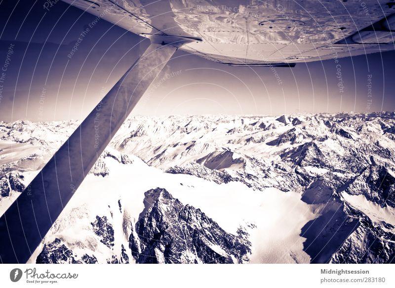 Alps Winter Schnee Winterurlaub Berge u. Gebirge Motorsport Pilot Maschine Kunst fliegen Gefühle Cessna 152 150 Innsbruck Österreich Boeing Airbus Alpen Ötztal