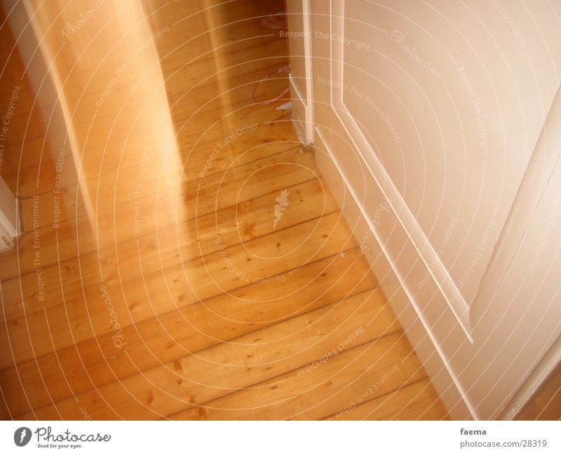 Tag der offenen Tür Holz Holzfußboden Altbau Holztür beweglich obskur Bewegung Schatten Geister u. Gespenster Bodenbelag