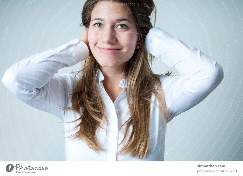 portrait Schüler Berufsausbildung lernen Business Karriere Erfolg Feierabend feminin 1 Mensch 18-30 Jahre Jugendliche Erwachsene Freude Glück Fröhlichkeit