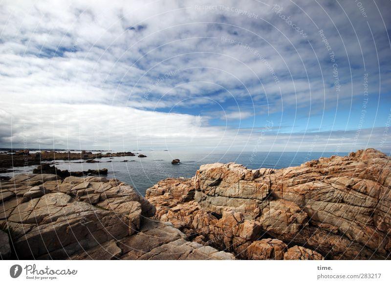 Better Side of Life   für Thomas Himmel Natur schön Meer Wolken Ferne Berge u. Gebirge Leben Herbst natürlich Küste Horizont authentisch Perspektive groß