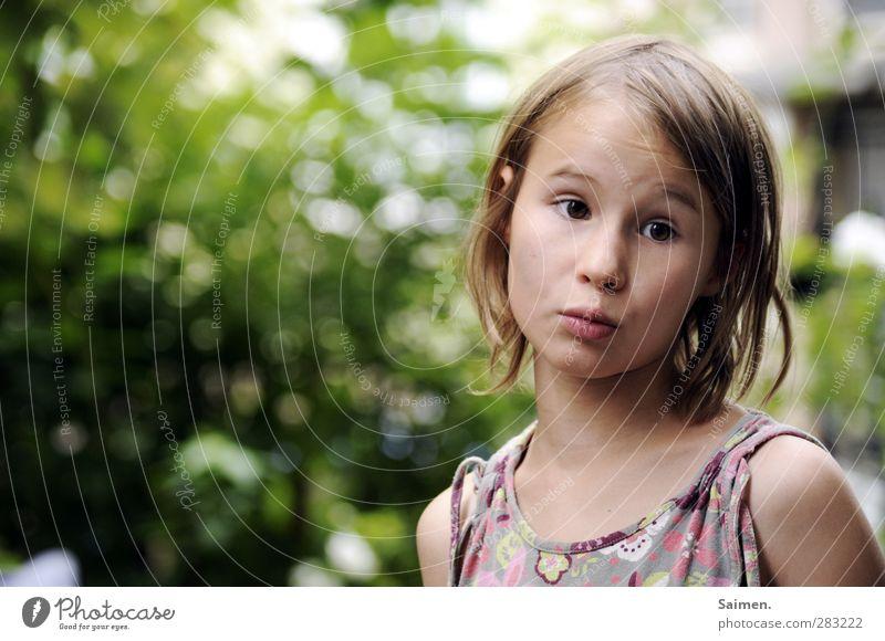 noch fümpf minuten, mama - komm schooooon! Mensch feminin Kind Gesicht 1 8-13 Jahre Kindheit Blick schön natürlich Neugier Gefühle Stimmung Vorfreude