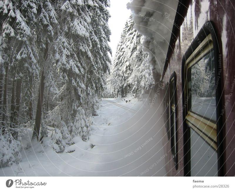 Orient Express Winter Fenster Schnee Verkehr Glas Eisenbahn Tanne Staub Wasserdampf Bruchstück
