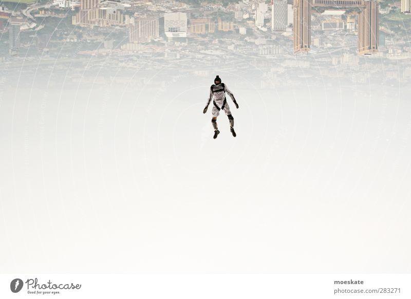 Die Welt steht Kopf Mensch Mann Erwachsene Freiheit springen fliegen Freizeit & Hobby maskulin Aktion Geschwindigkeit Lifestyle Asien sportlich Skyline