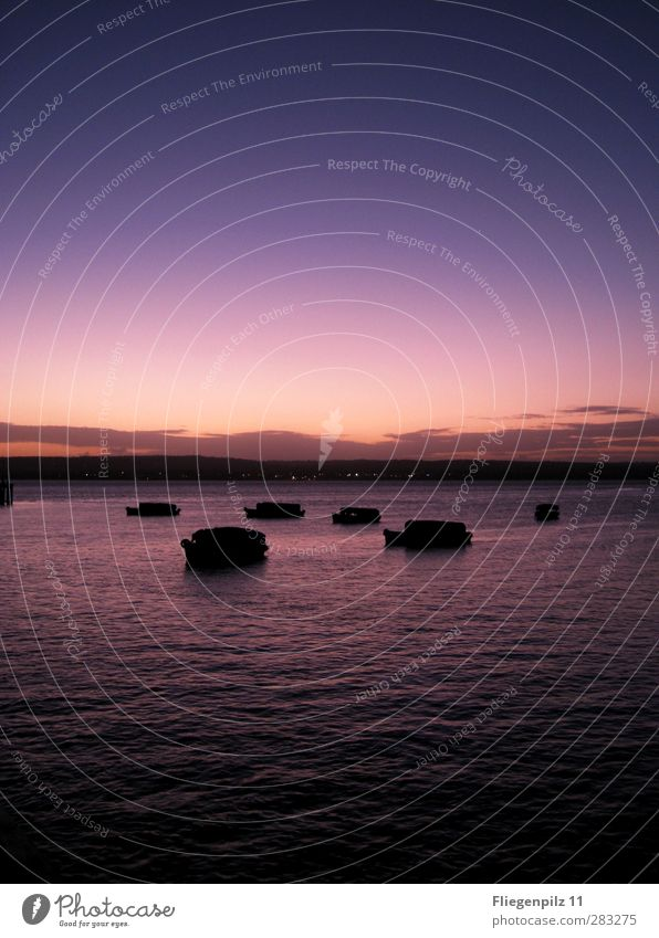 Abendruhe II Himmel Ferien & Urlaub & Reisen Wasser schön Meer Wolken ruhig Erholung Umwelt Gefühle Glück Horizont Wasserfahrzeug außergewöhnlich Zufriedenheit