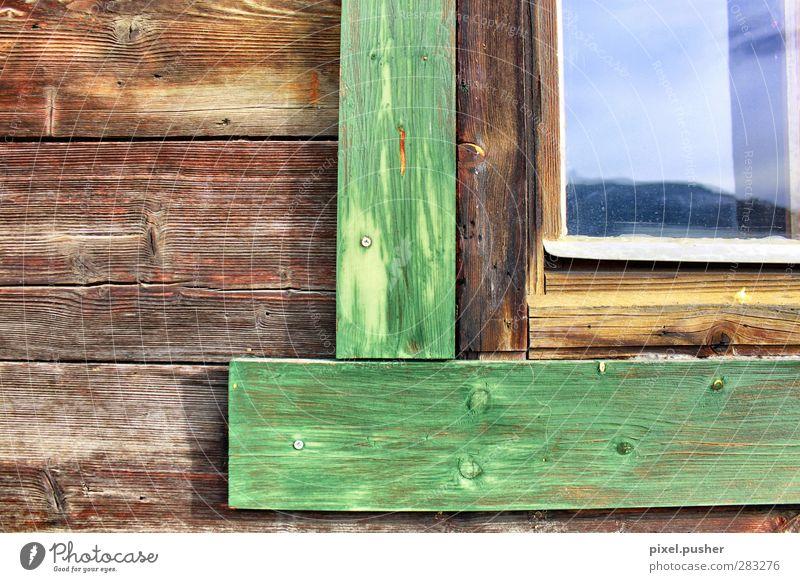 Östereich Holz Klettern Bergsteigen Frühling Sommer Alpen Berge u. Gebirge Dorf Haus Einfamilienhaus Hütte Gebäude Berghütte Mauer Wand Fassade Fenster Tür