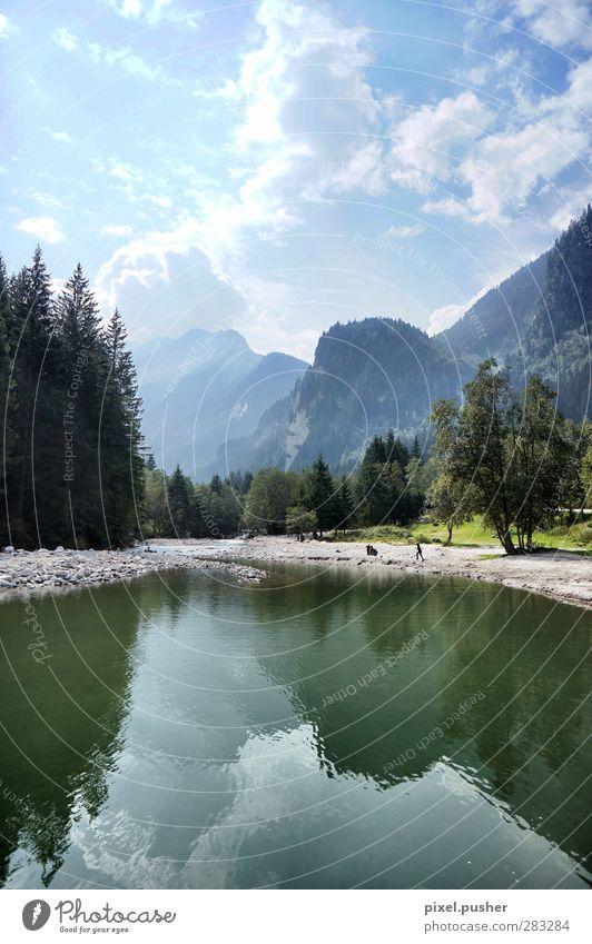 Zillertal Himmel blau Ferien & Urlaub & Reisen grün Wolken Landschaft Erholung Berge u. Gebirge Leben Bewegung gehen Fahrrad Zufriedenheit wandern Tourismus
