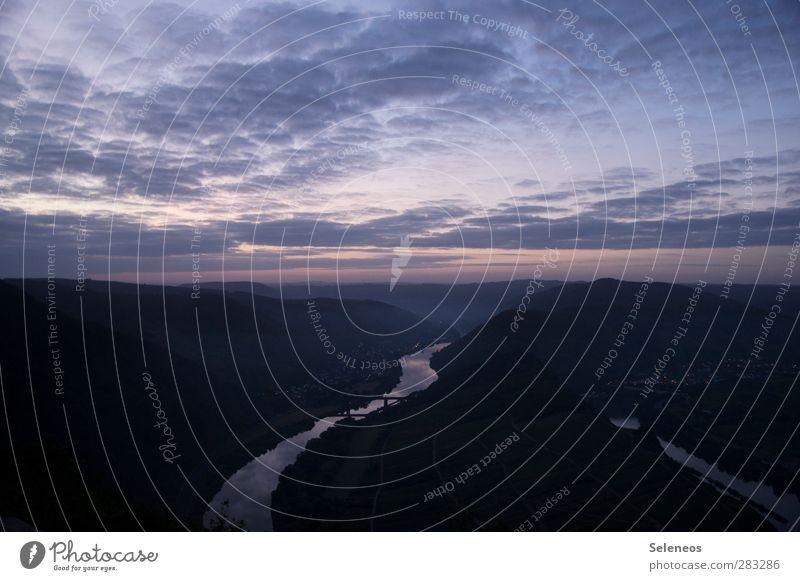 rechts ein Hasenohr Himmel Natur Ferien & Urlaub & Reisen Wolken Landschaft Ferne Umwelt kalt Freiheit Horizont natürlich Tourismus Ausflug Fluss Hügel Schleife