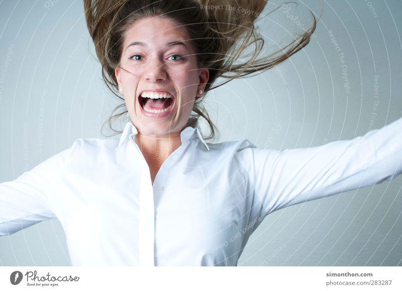 Ausraster Mensch Jugendliche Freude Erwachsene feminin Gefühle Business 18-30 Jahre Stimmung Kraft Erfolg Energie Abenteuer Pause Todesangst Wut