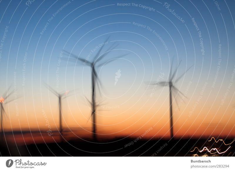 kein zurück! Himmel Natur Landschaft Umwelt Bewegung Horizont Energiewirtschaft Zukunft Technik & Technologie Industrie Windkraftanlage drehen