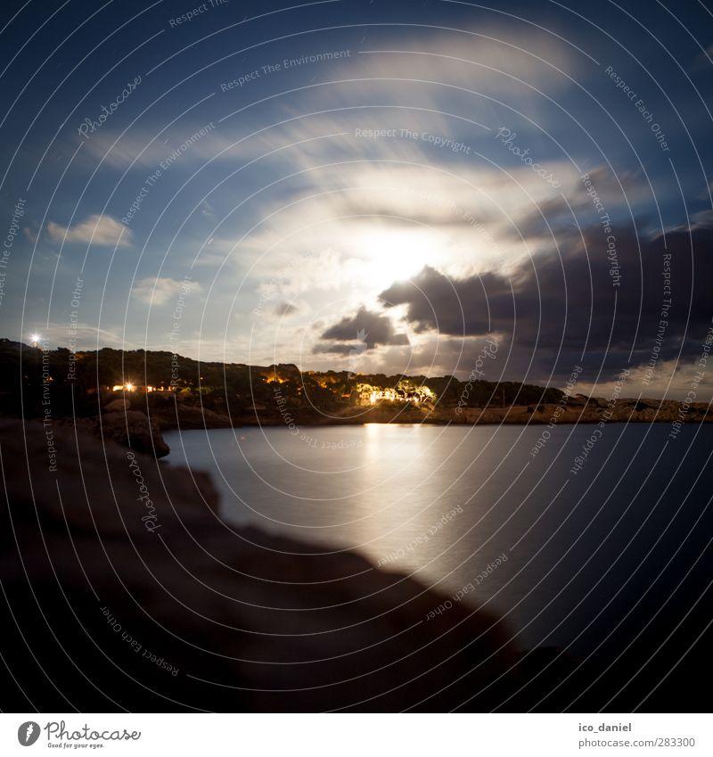 Vollmond Ferien & Urlaub & Reisen Tourismus Ausflug Abenteuer Ferne Städtereise Haus Traumhaus Umwelt Natur Landschaft Mond Sommer Wetter Schönes Wetter Küste