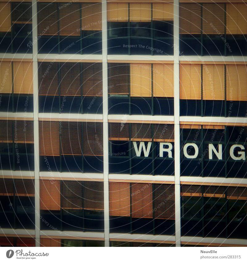Wrong? Haus Fenster Angst Hochhaus Zukunftsangst Verzweiflung Unglaube