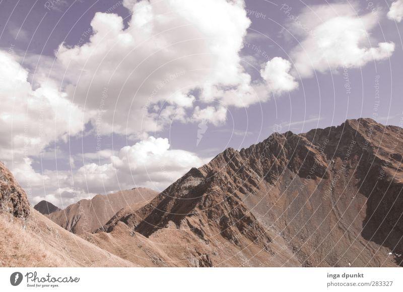 der schmale Grat Umwelt Natur Landschaft Himmel Wolken Schönes Wetter Felsen Berge u. Gebirge Gipfel Siebenbürgen Rumänien sinaia außergewöhnlich Unendlichkeit